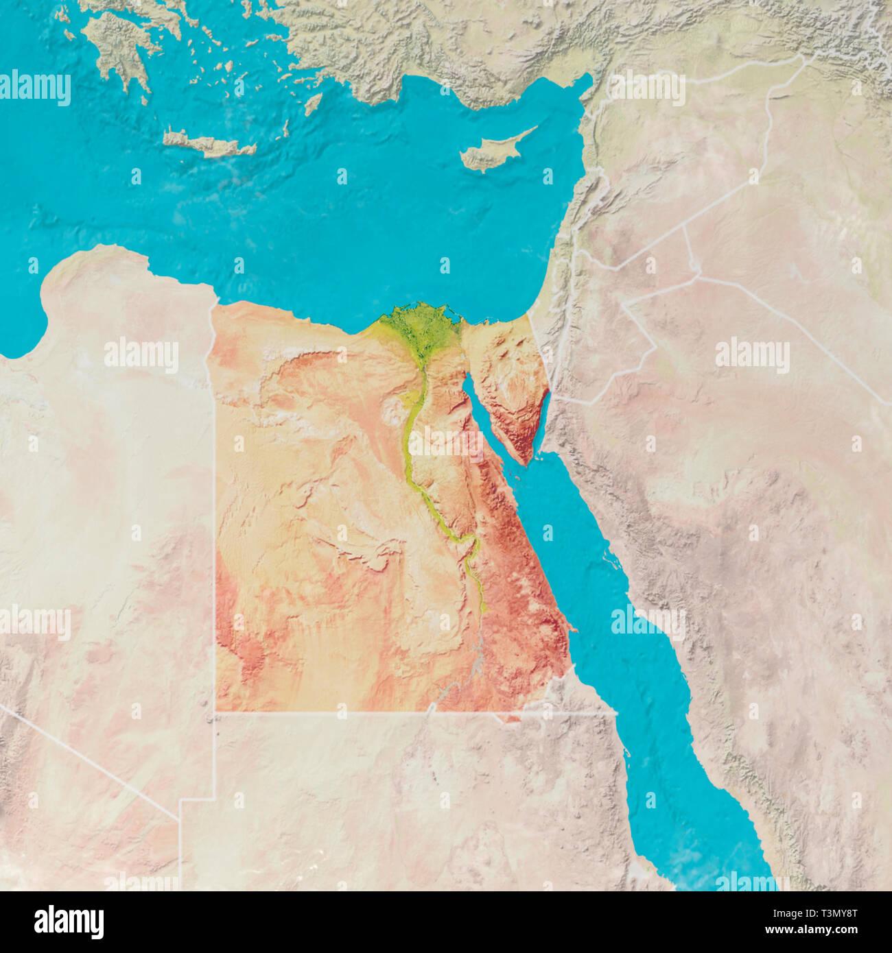 Europa E Asia Cartina.Cartina Fisica Con Rilievi Di Egitto Mappa 3d Del Nord
