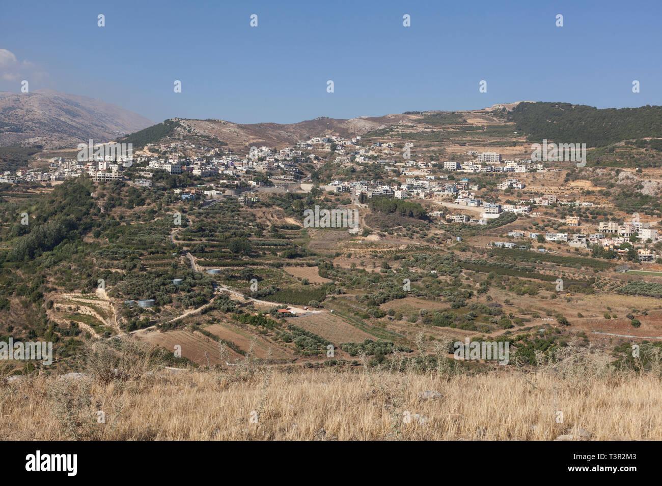 Alture del Golan, nel nord di Israele Immagini Stock