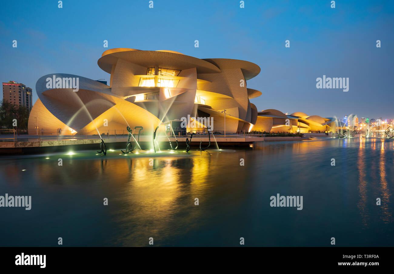 Lavorare In Qatar Architetto vista del nuovo museo nazionale del qatar a doha , qatar