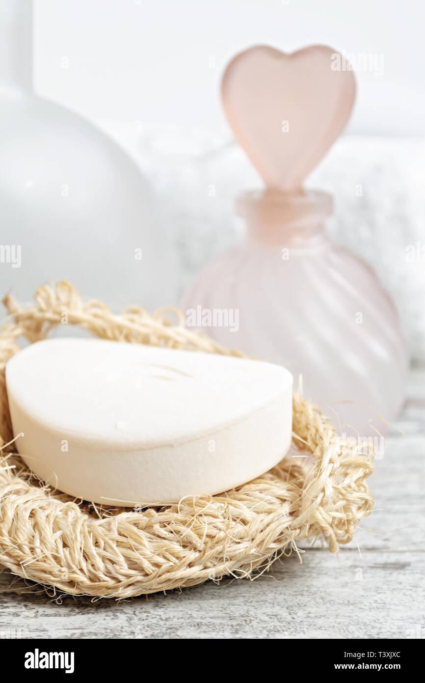 Aromaterapia bagno horizontale. primo piano Immagini Stock