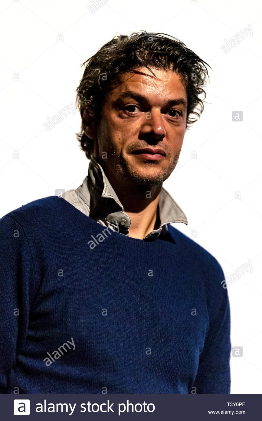 6 novembre 2018 - Montreal, Canada: Ritratto di direttore francese Samuel Jouy, alla proiezione del film il combattimento, presso il festival Cinemania. (David Immagini Stock