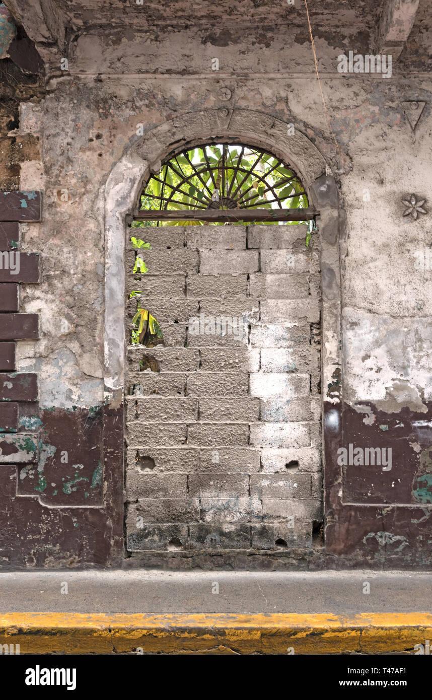 Casa rovina nel casco viejo la storica città di Panama city Immagini Stock