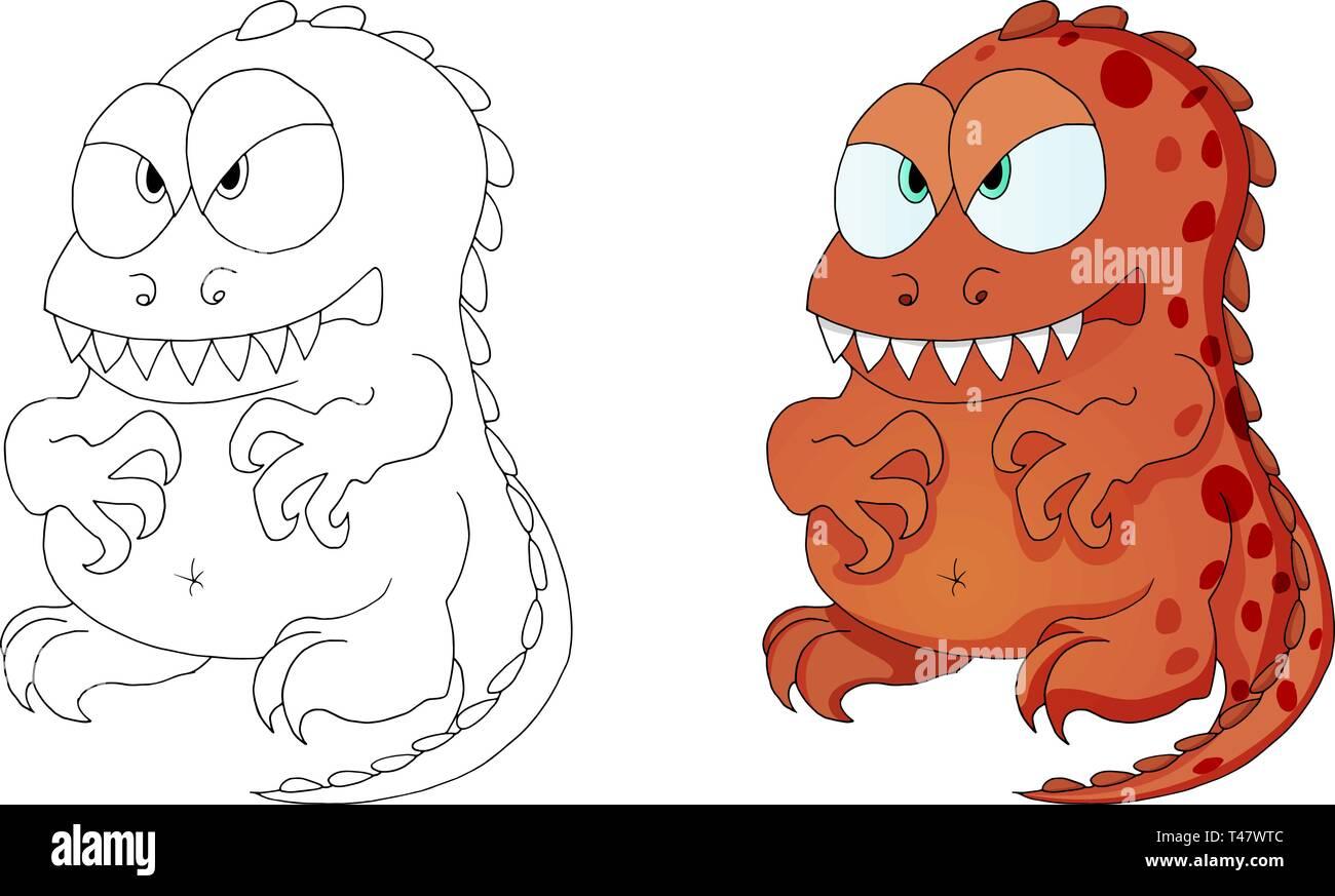 I dinosauri monster personaggio dei cartoni animati per bambini