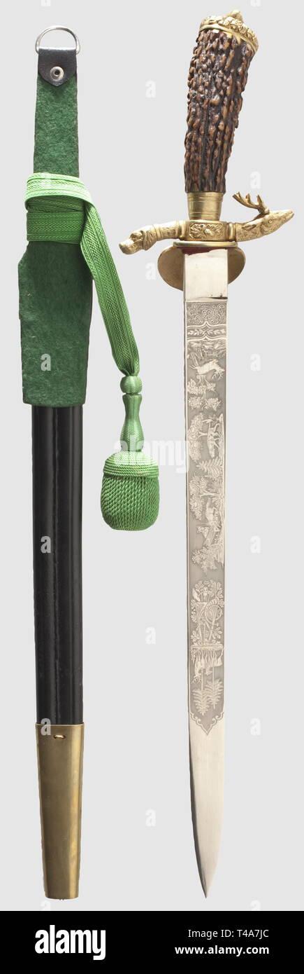 Cintura per cacciatori con querce fogliame motivo