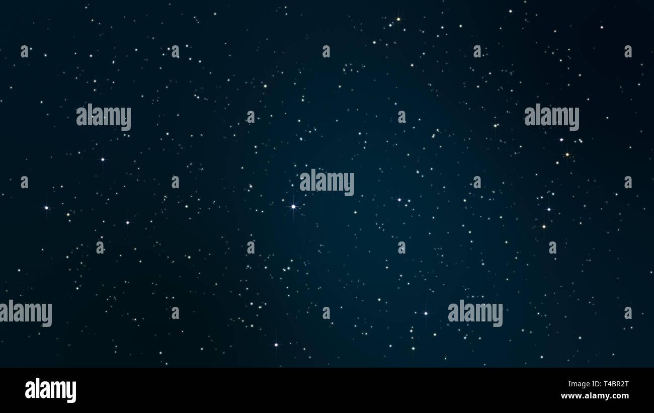 Notte Cielo Stellato Con Scintillanti E Stelle Lampeggianti