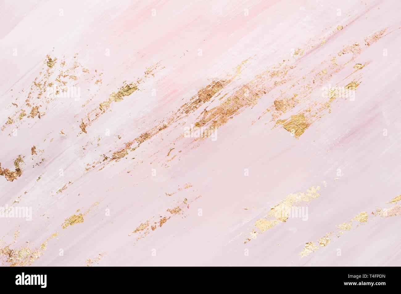 Marmo Rosa Sfondo Con Pennellate Oro Posto Per Il Vostro Design
