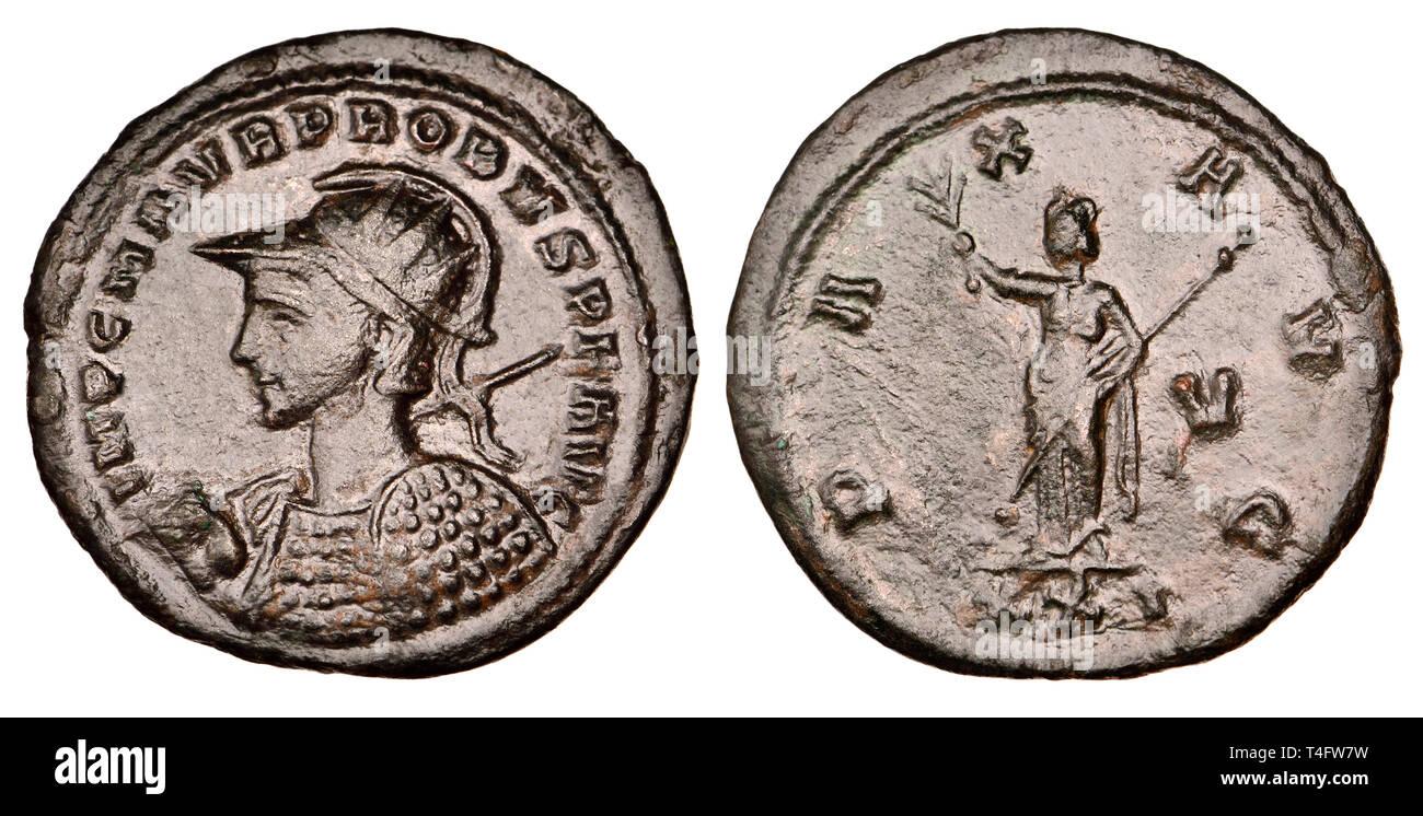 43ccd05315 Romano medaglia di bronzo. Antoninianus Probus (ANNUNCIO 276-282)  retromarcia: Pax