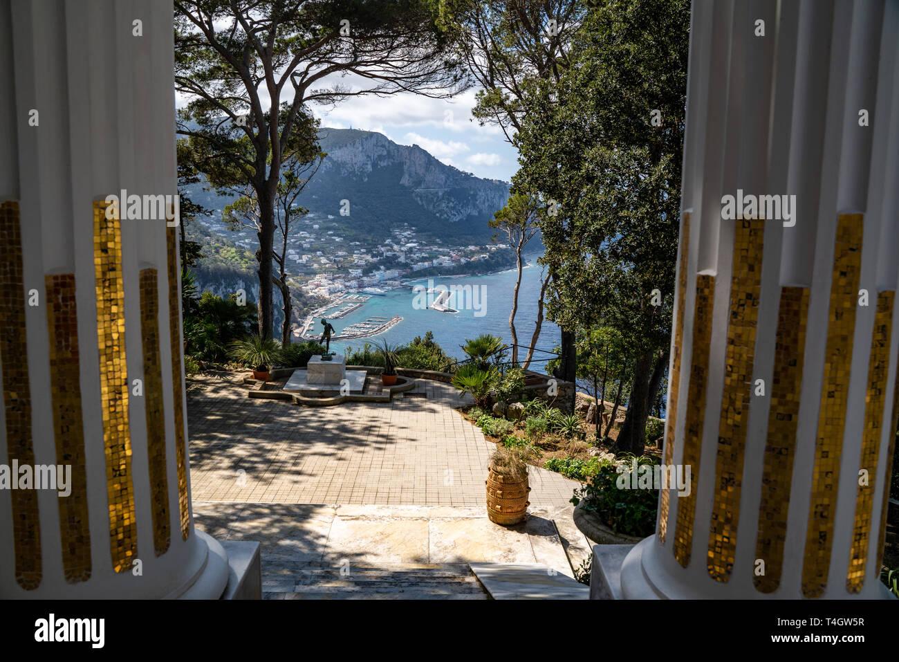Villa Lysis, Fersen, Capri Foto stock - Alamy
