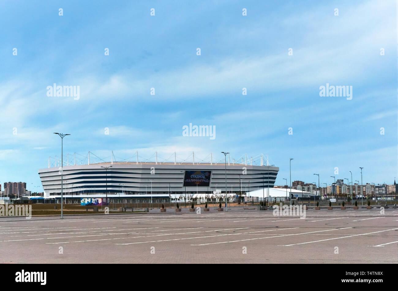 Moderno impianto sportivo, lo stadio di calcio, Kaliningrad, Russia, 30 Settembre 2019 Immagini Stock