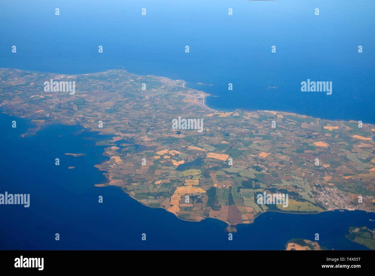 Luftbild, Isola di Man, Grossbritannien (nur fuer redaktionelle Verwendung. Keine Werbung. Referenzdatenbank: http://www.360-berlin.de. © Jens Knappe. Immagini Stock