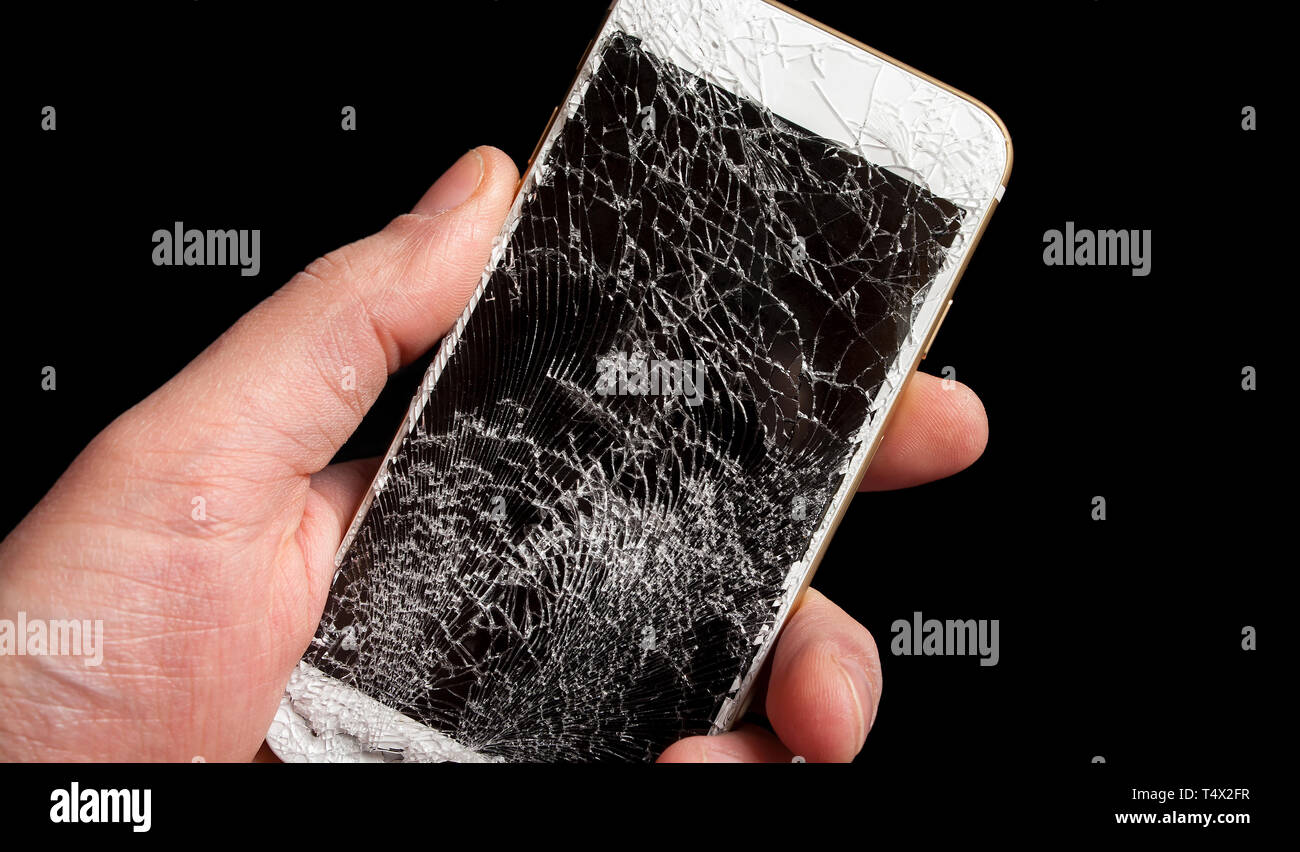 Smartphone Iphone Broken Display Screen Immagini Smartphone Iphone