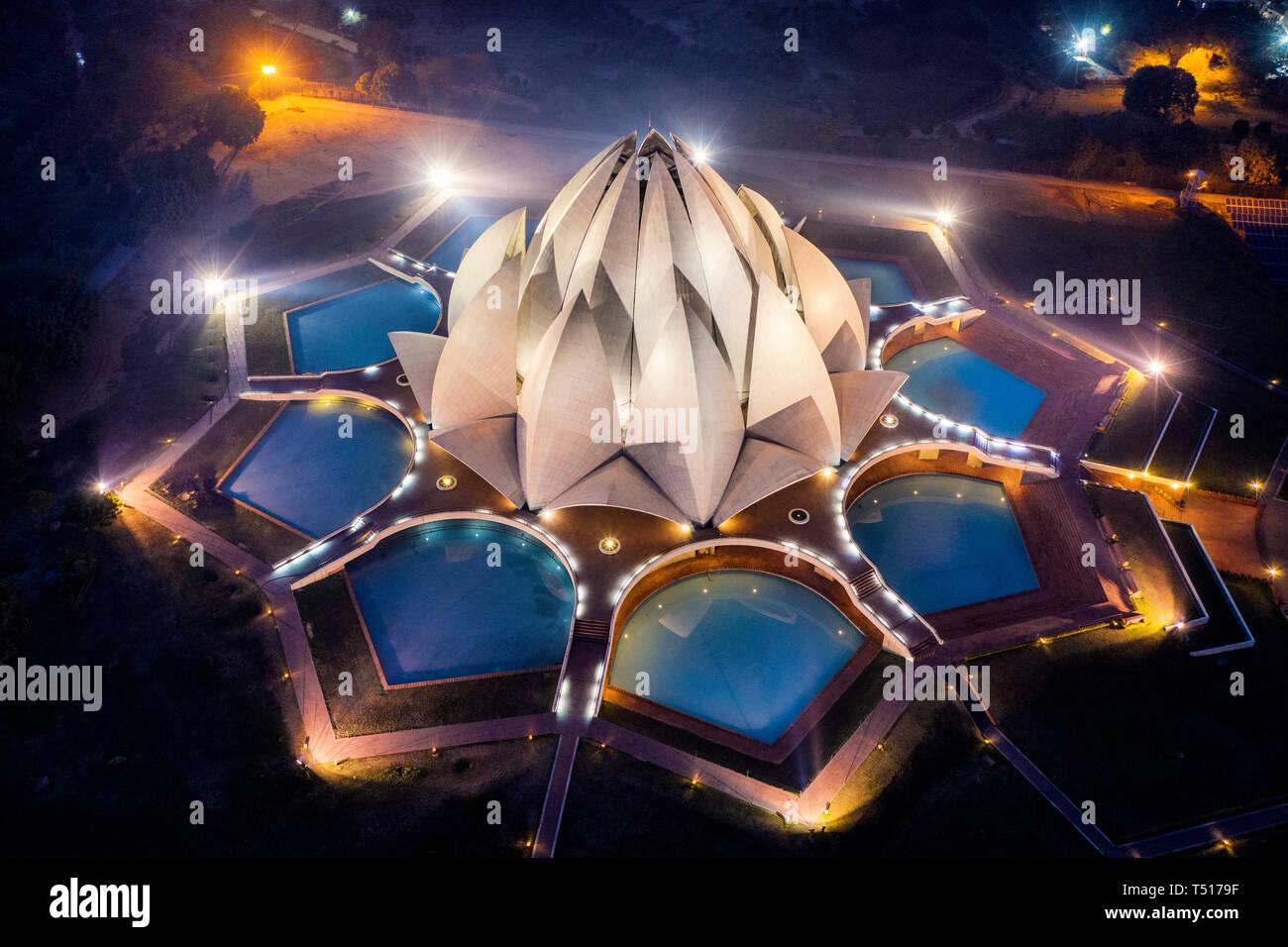 India, Nuova Delhi, Lotus Temple Immagini Stock