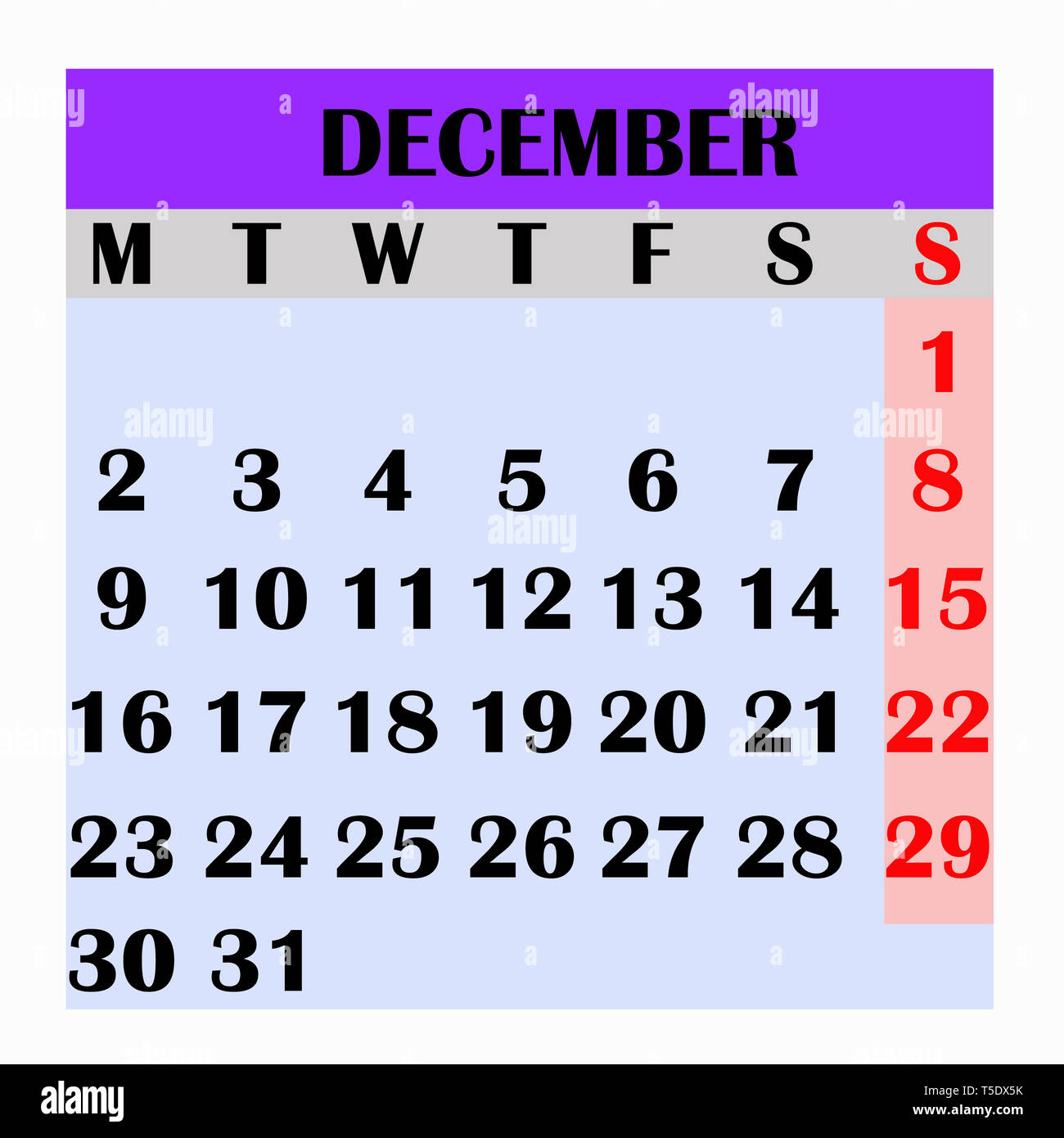 Calendario Mese Dicembre 2019.Il Design Del Calendario Mese Dicembre 2019 Anno Di