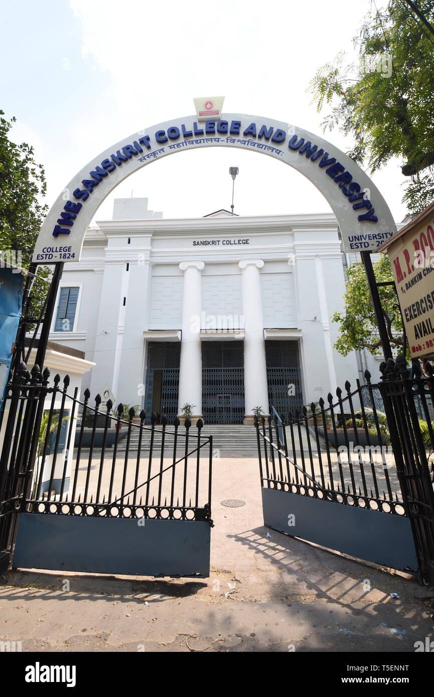 Il Sanskrit College e università. 1 Bankim Chatterjee Street, Calcutta, India Immagini Stock