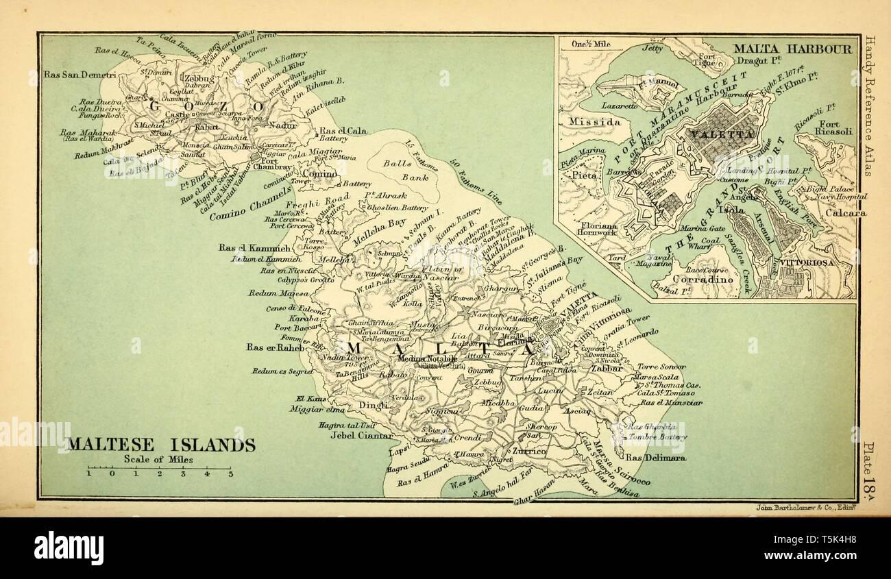 Cartina Di Malta Da Stampare.Mappa Malta Immagini E Fotos Stock Alamy