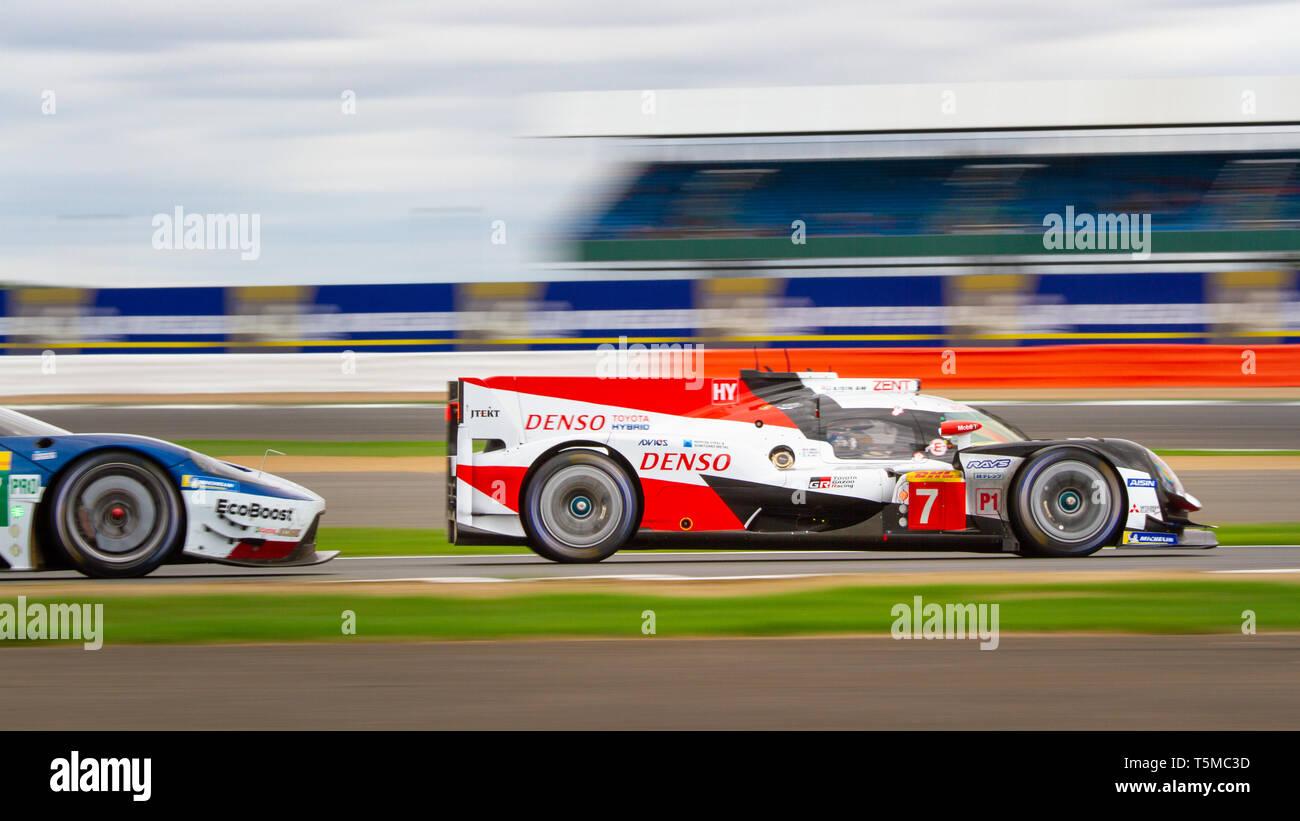 6 Ore di Silverstone, World Endurance Championship 2018 Immagini Stock