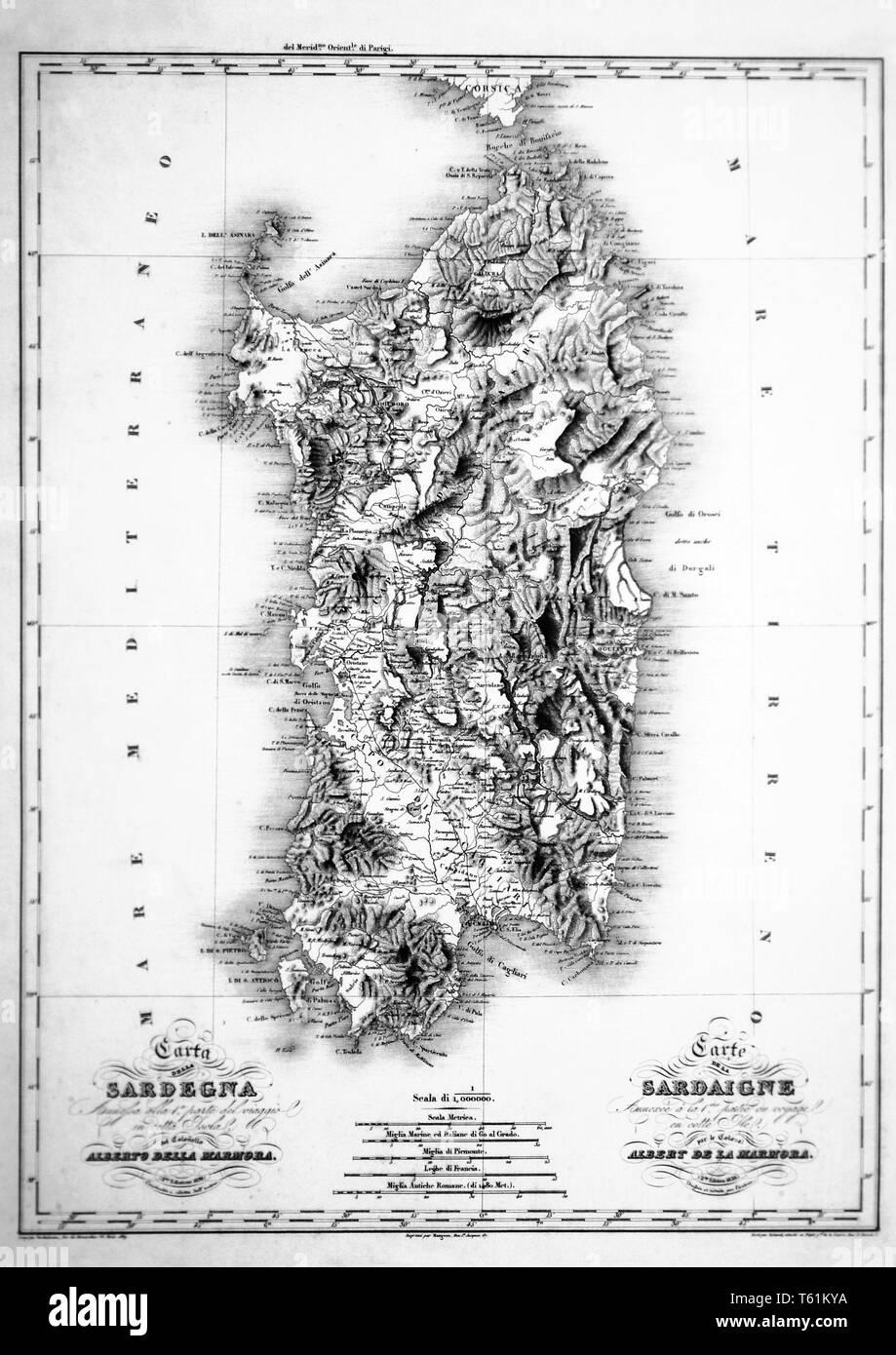 Cartina Antica Sardegna.Sardinia Map Immagini E Fotos Stock Alamy