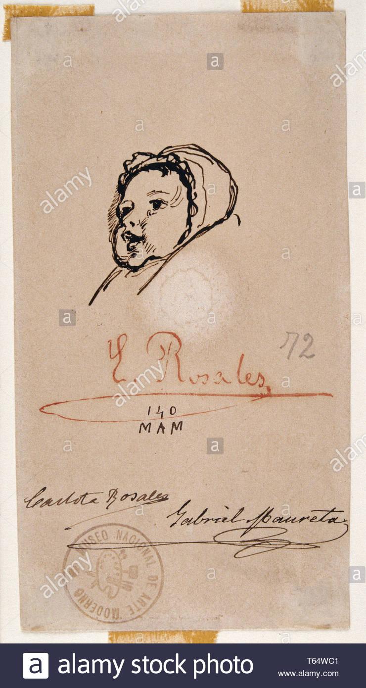 Rosales, Gallinas Eduardo-Eloisa, hija del artista Immagini Stock
