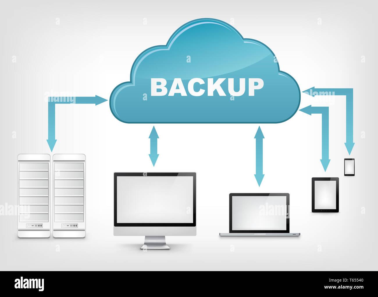 Il servizio cloud. EPS 10. Immagini Stock