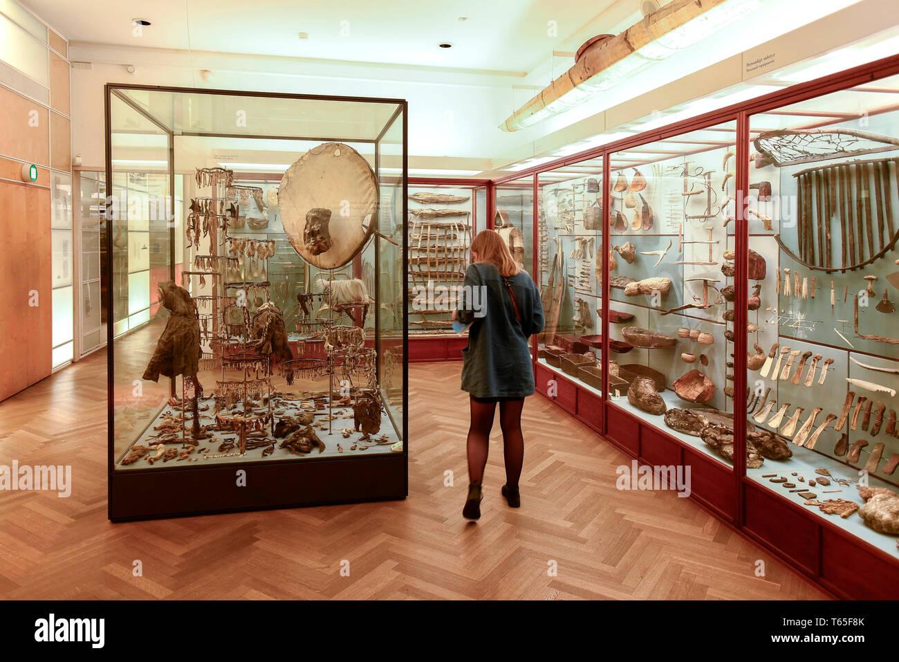 Il Museo Nazionale di Copenhagen in Danimarca è il più grande museo di storia culturale, comprendente le storie dei danesi e culture straniere, Copenhage Foto Stock