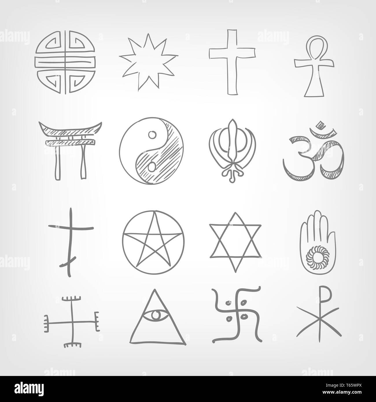 Il simbolismo religioso Immagini Stock