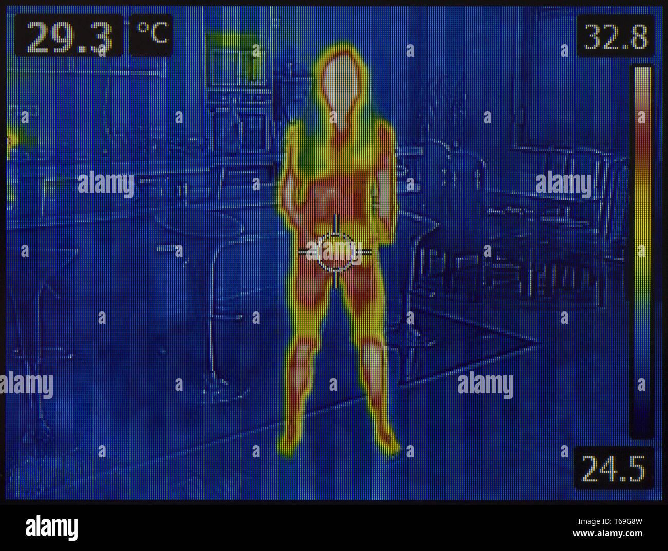 Il corpo umano immagine termica Immagini Stock