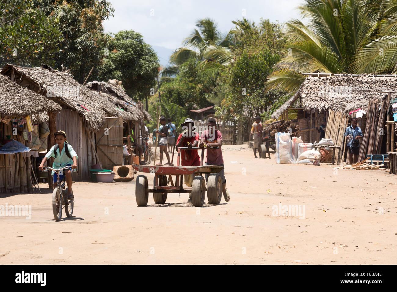 Un malgascio popoli la vita quotidiana in Madagascar Immagini Stock