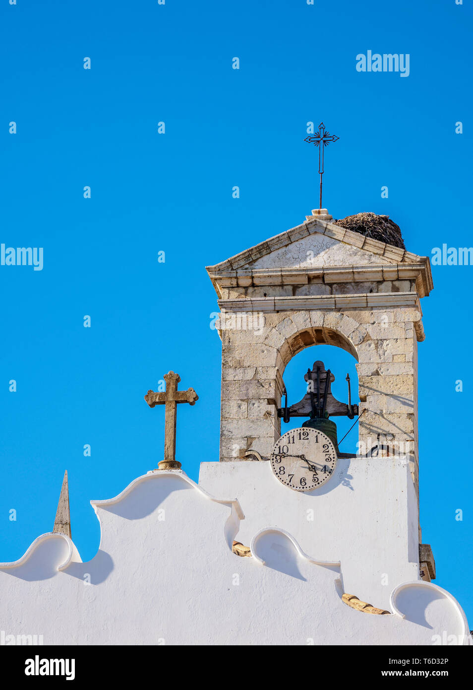 Arco da Vila, vista dettagliata, Faro, Algarve, PORTOGALLO Immagini Stock