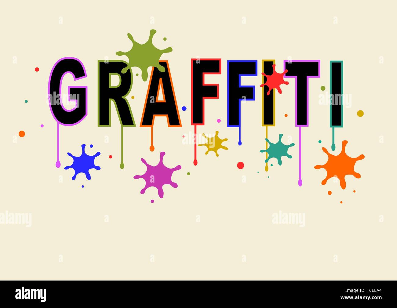 Spruzzato graffiti Immagini Stock