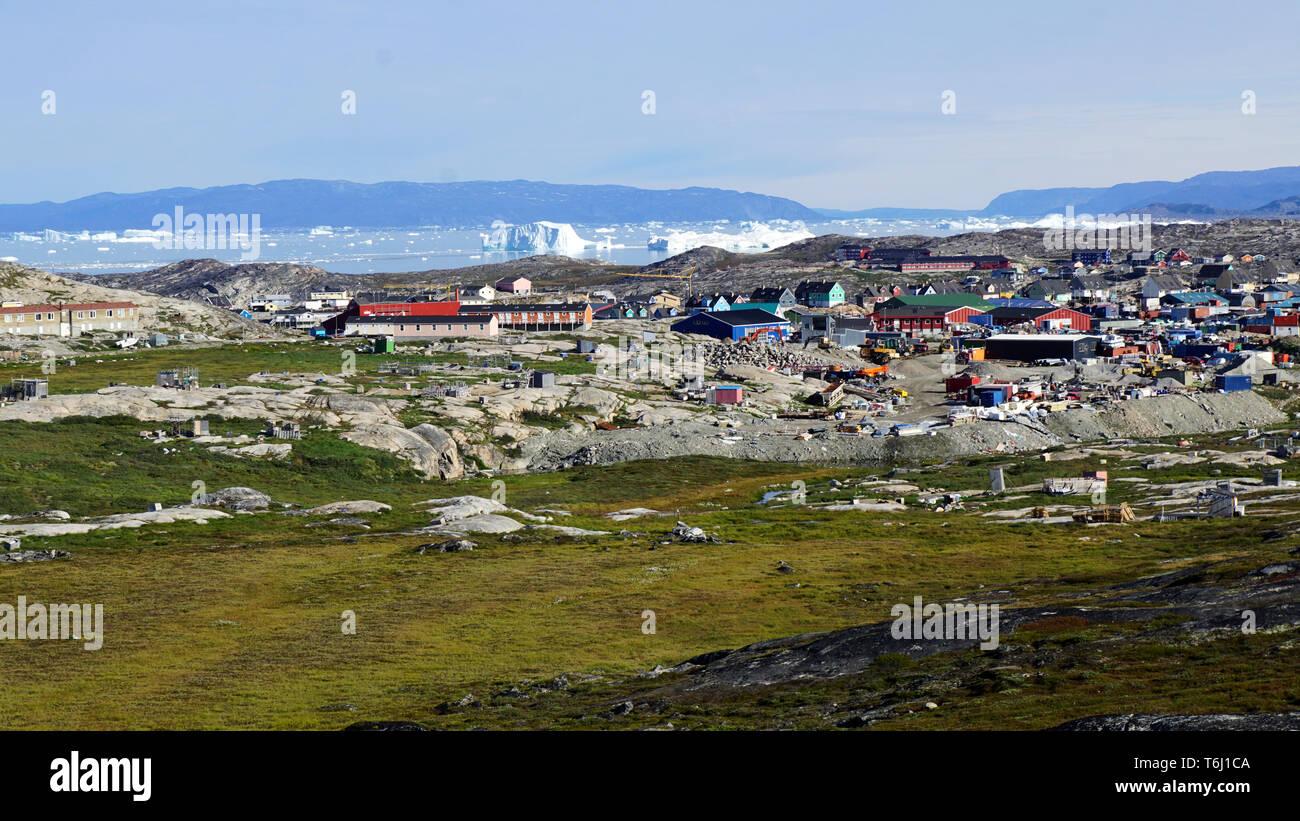 Ilulissat Tourist Nature auf Grönland Immagini Stock