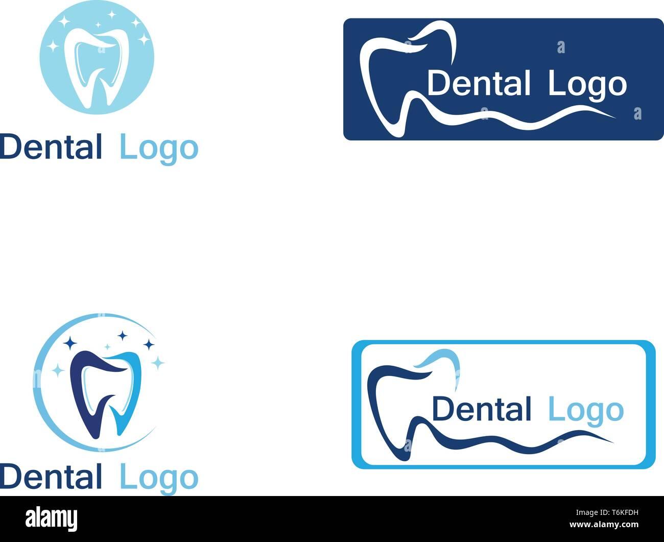Per le cure dentarie logo e vettore di simbolo Immagini Stock
