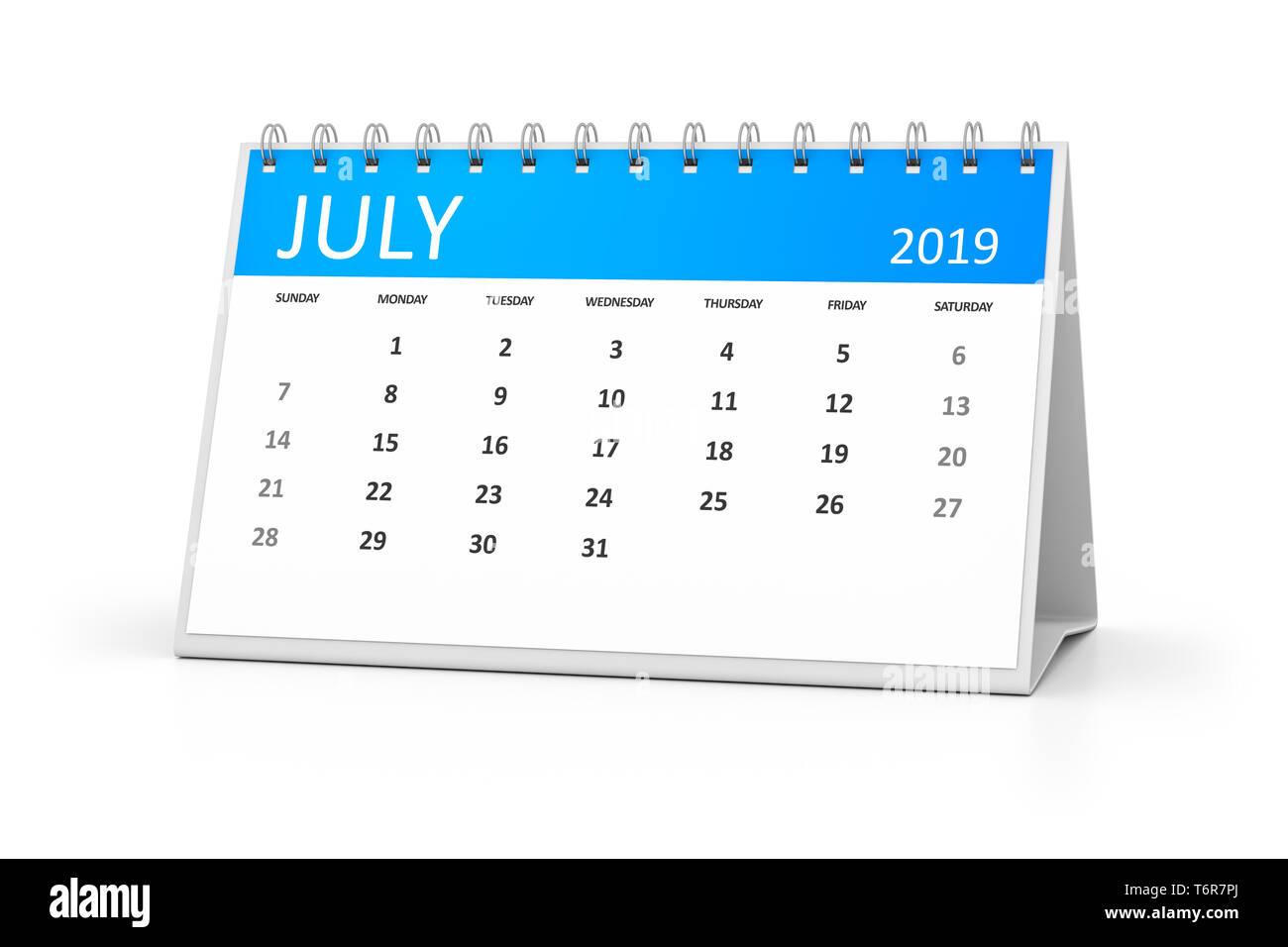 Calendario Numero Settimana 2019.2019 Desk Calendar Immagini 2019 Desk Calendar Fotos Stock