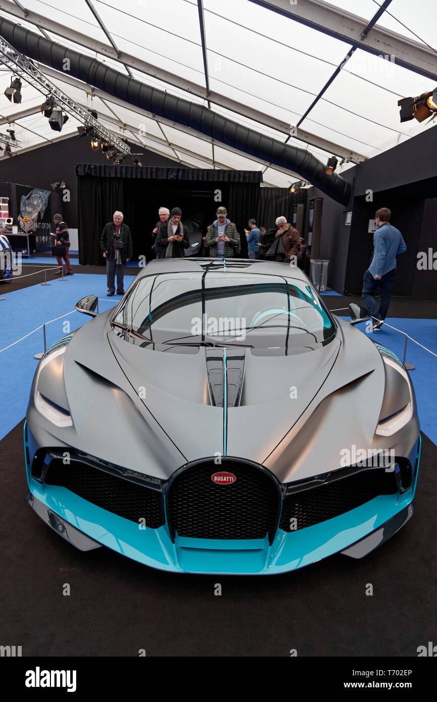 Parigi, Francia. 31 gennaio, 2019. Bugatti Divo al 34th International Automobile Festival. Credit:Veronique Phitoussi/Alamy Stock Photo Immagini Stock
