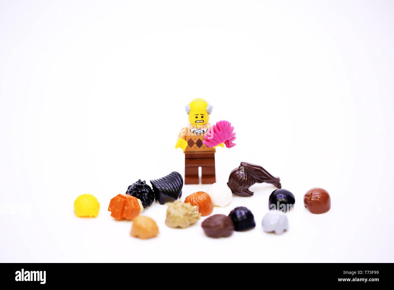 La perdita di capelli maschio Immagini Stock