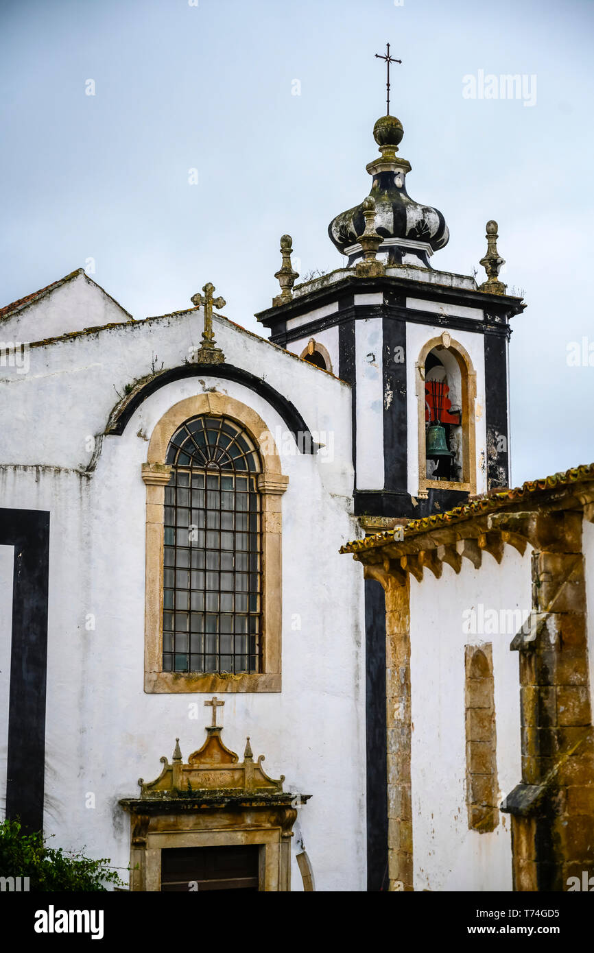 Chiesa esterno; Obidos, Distretto di Leiria, Portogallo Foto Stock