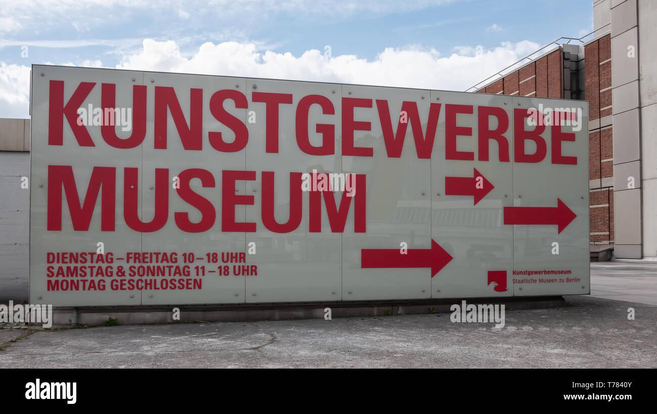 Berlino, Germania - 4 Maggio 2019: Kunstgewerbemuseum, Museo di Arti Decorative al Kulturforum di Berlino Immagini Stock