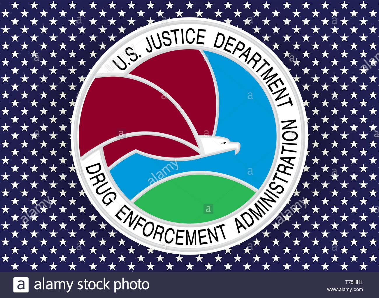 La Drug Enforcement Administration DEA guarnizione del logo Immagini Stock