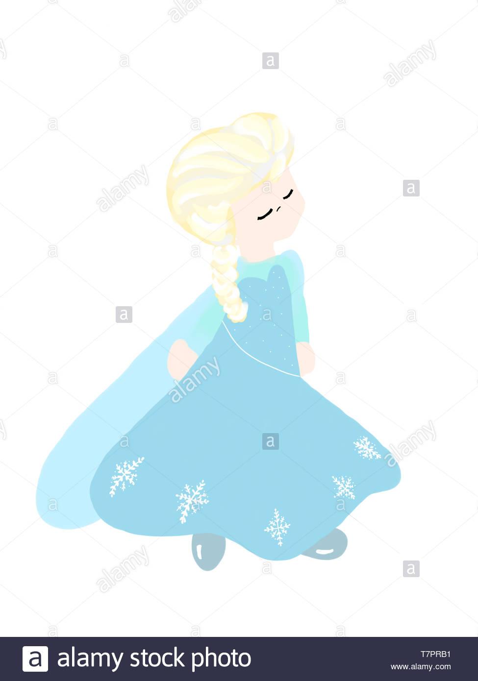 La Principessa di ghiaccio arte digitale Immagini Stock