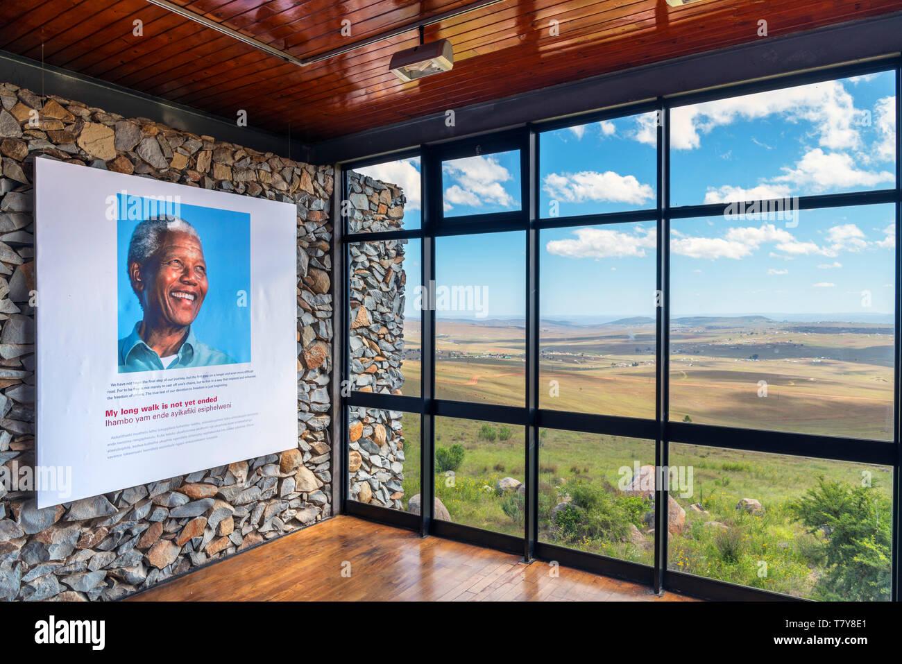 Museo in Qunu, la casa d'infanzia di Nelson Mandela, Capo orientale, Sud Africa Immagini Stock