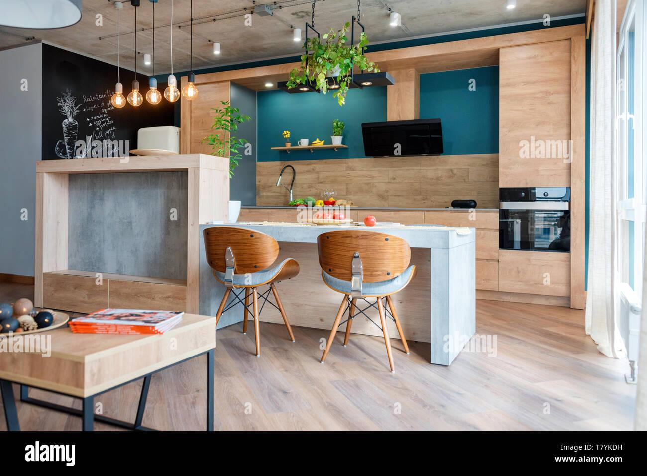 Piante Da Arredo Appartamento arredamento moderno e di cucina di lusso. minimalista
