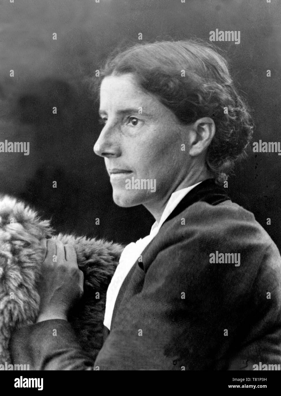 Charlotte Gilman, autore americano e riformatore sociale Immagini Stock