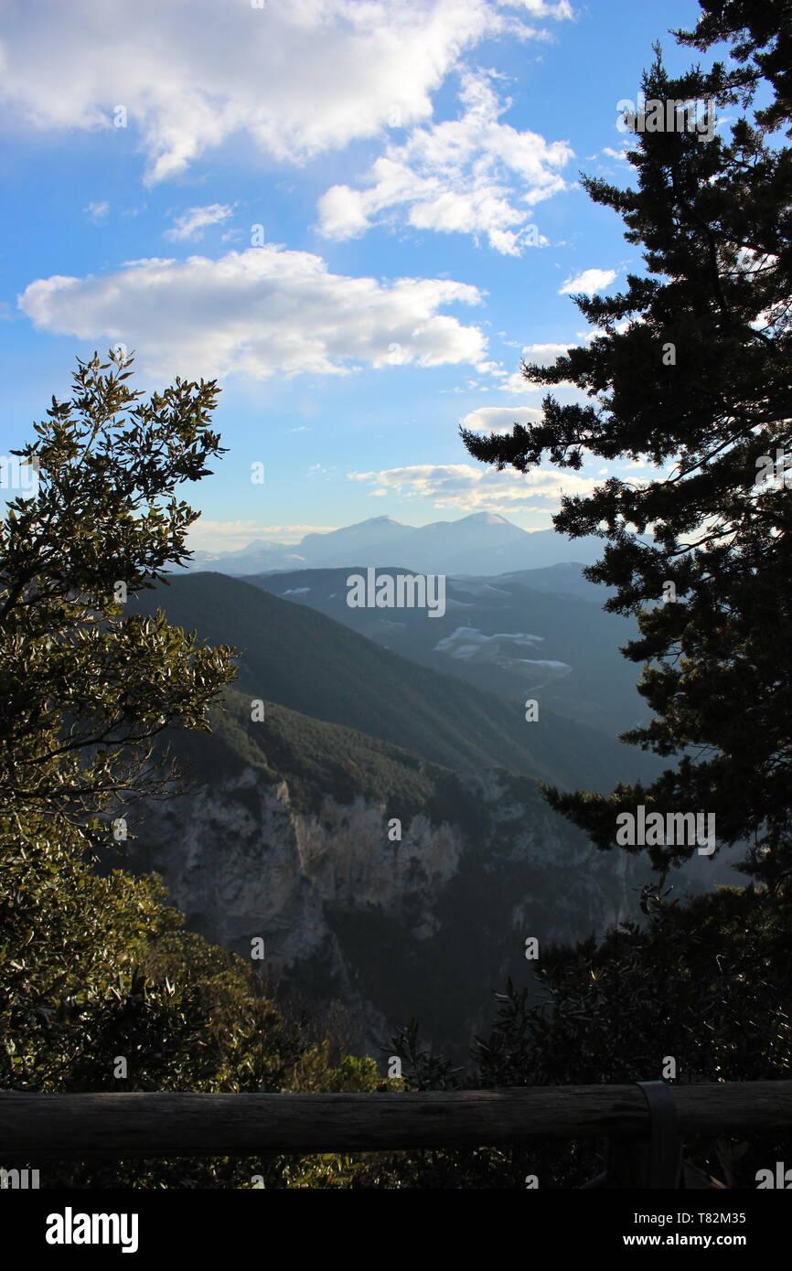 Paesaggio montuoso Immagini Stock