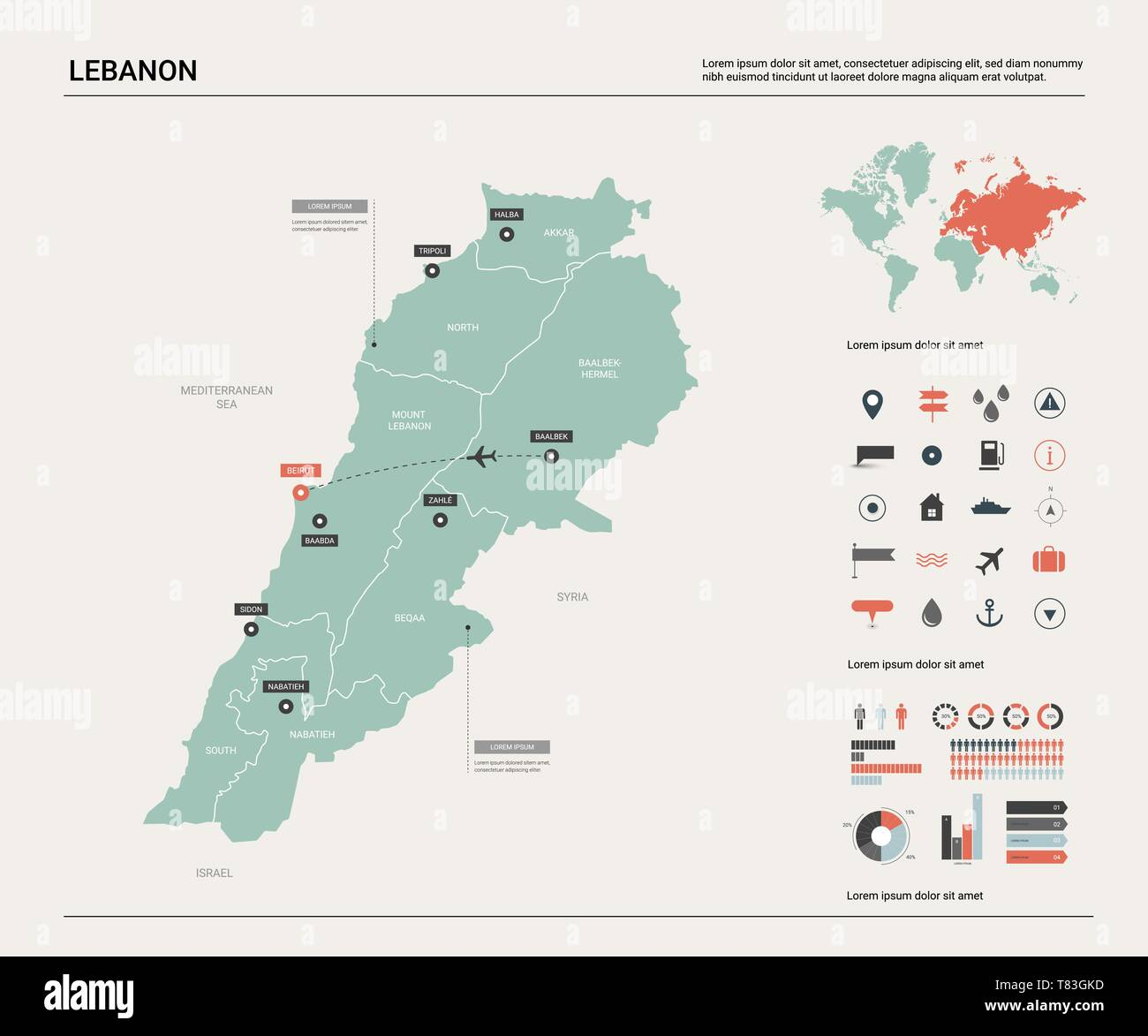 Cartina Del Libano.Mappa Vettoriale Del Libano Alta Dettagliata Mappa Del Paese Con La Divisione La Citta E La Capitale Beirut Mappa Politico Mappa Del Mondo Elementi Infografico Immagine E Vettoriale Alamy