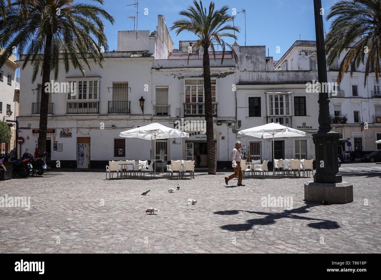Street view, Cadiz, Maggio 2019 Immagini Stock