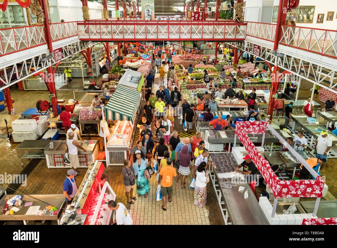 Francia Polinesia francese Isole della Società, isole Windward, Tahiti, Papeete, mercato Mapuru un Paraïta Immagini Stock