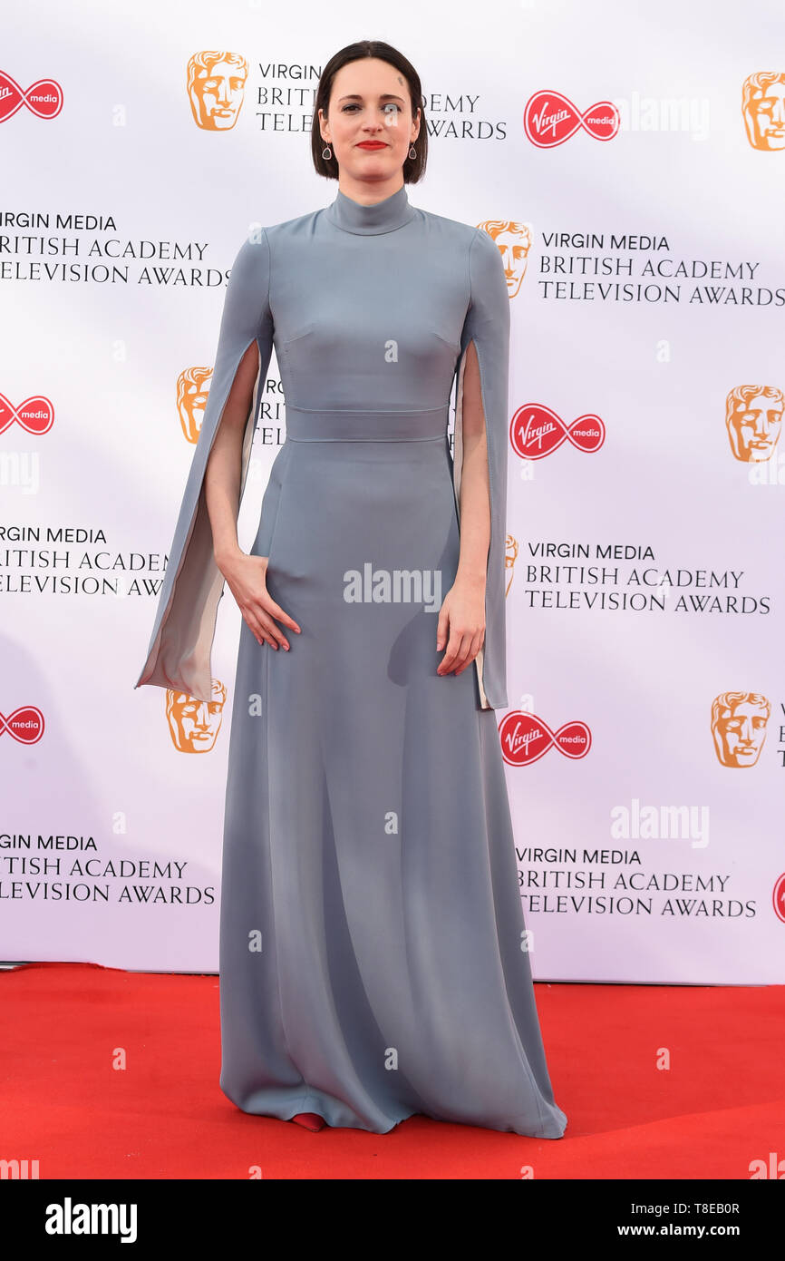 Londra, Regno Unito. Il 12 maggio 2019. Londra, Regno Unito. 12 maggio 2019: Pheobe Waller Bridge in arrivo per il BAFTA TV Awards 2019 presso la Royal Festival Hall di Londra. Immagine: Steve Vas/Featureflash Credito: Paul Smith/Alamy Live News Immagini Stock