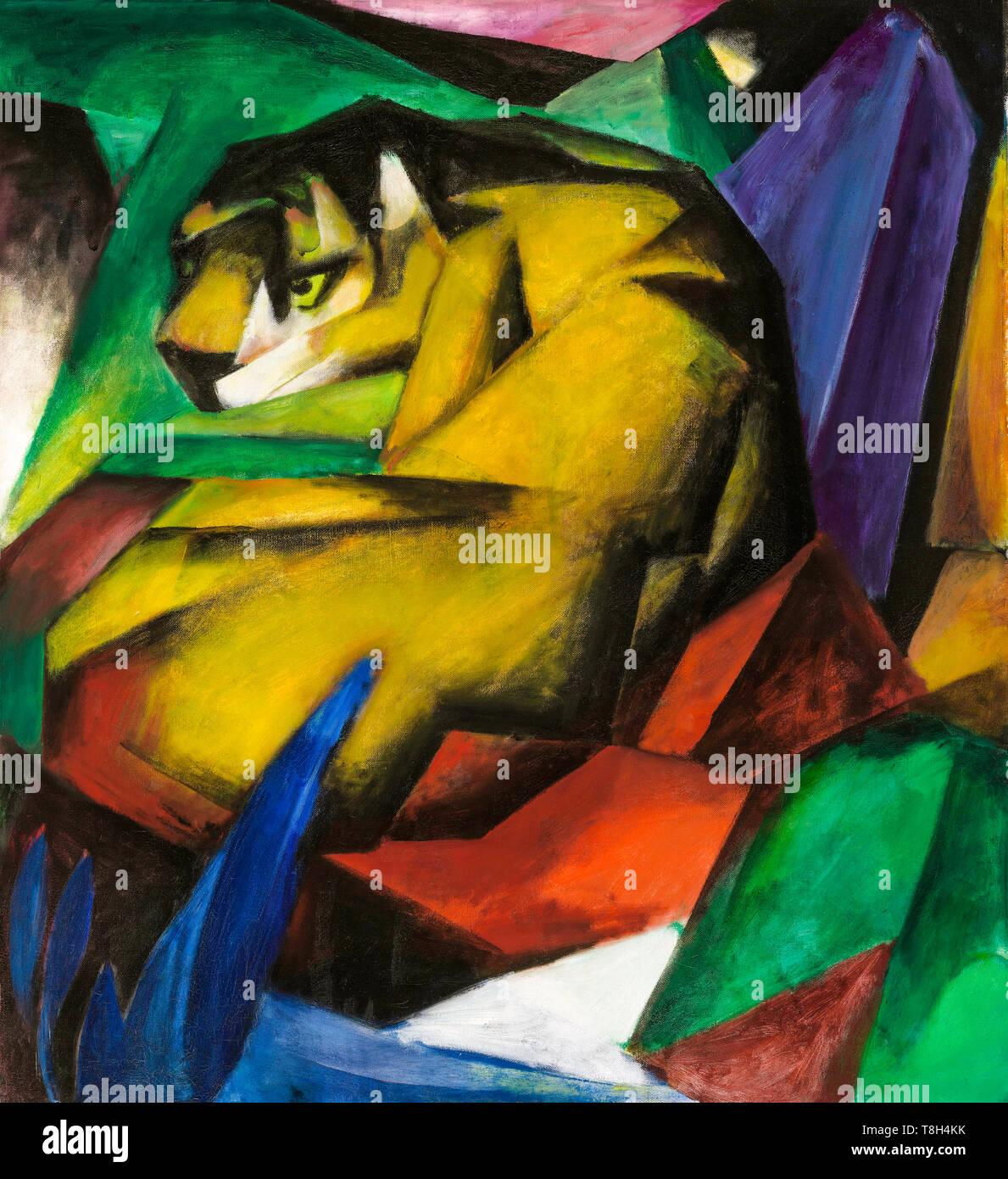 Franz Marc, la tigre, pittura, 1912 Immagini Stock