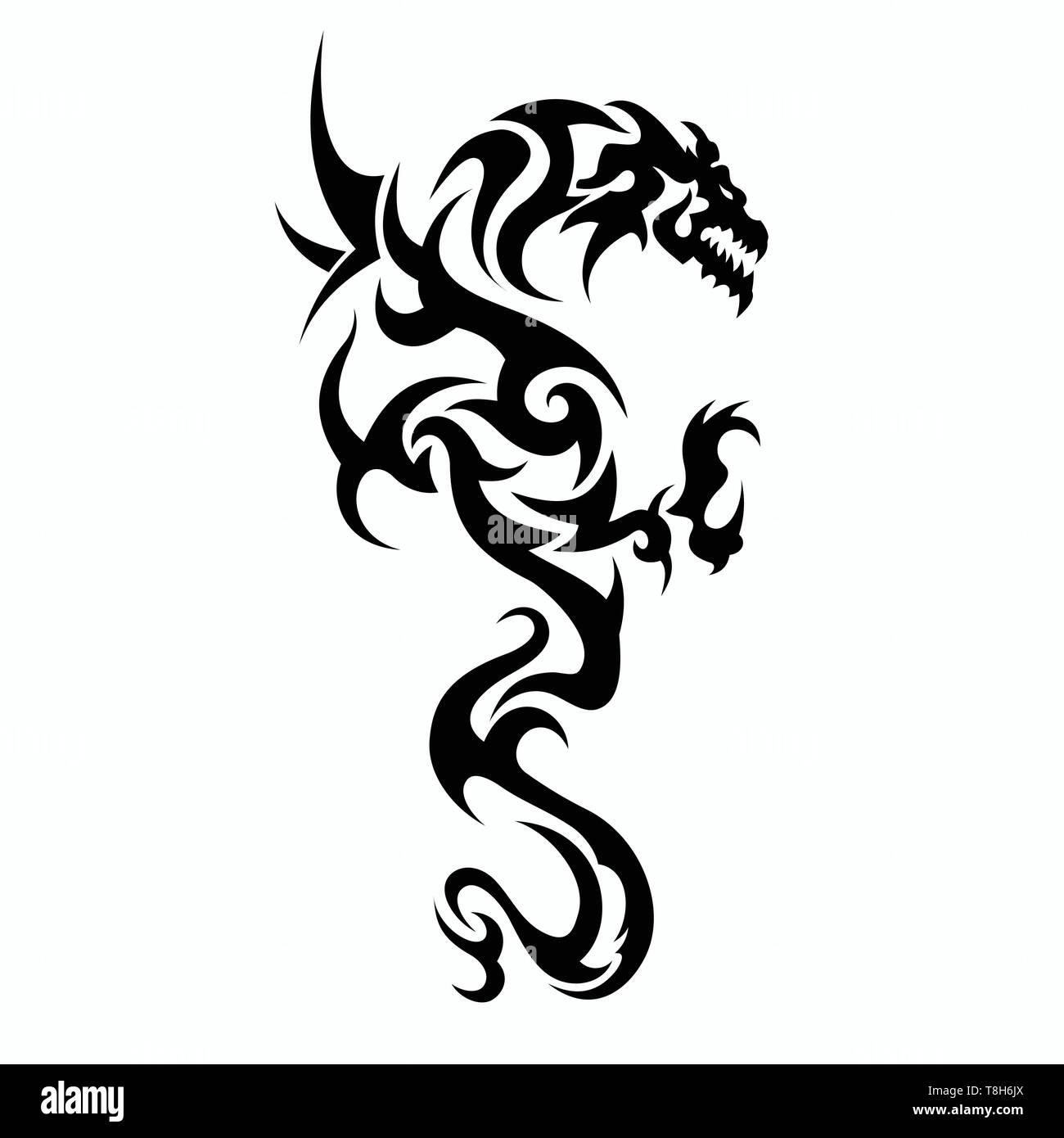 Dragon Vettori Per Tatuaggio Disegni E Modelli T Shirt Disegni