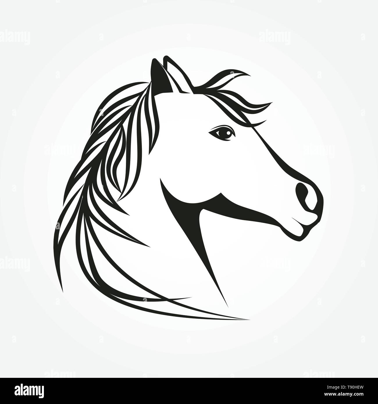 Stilizzato Cavallo Sagoma