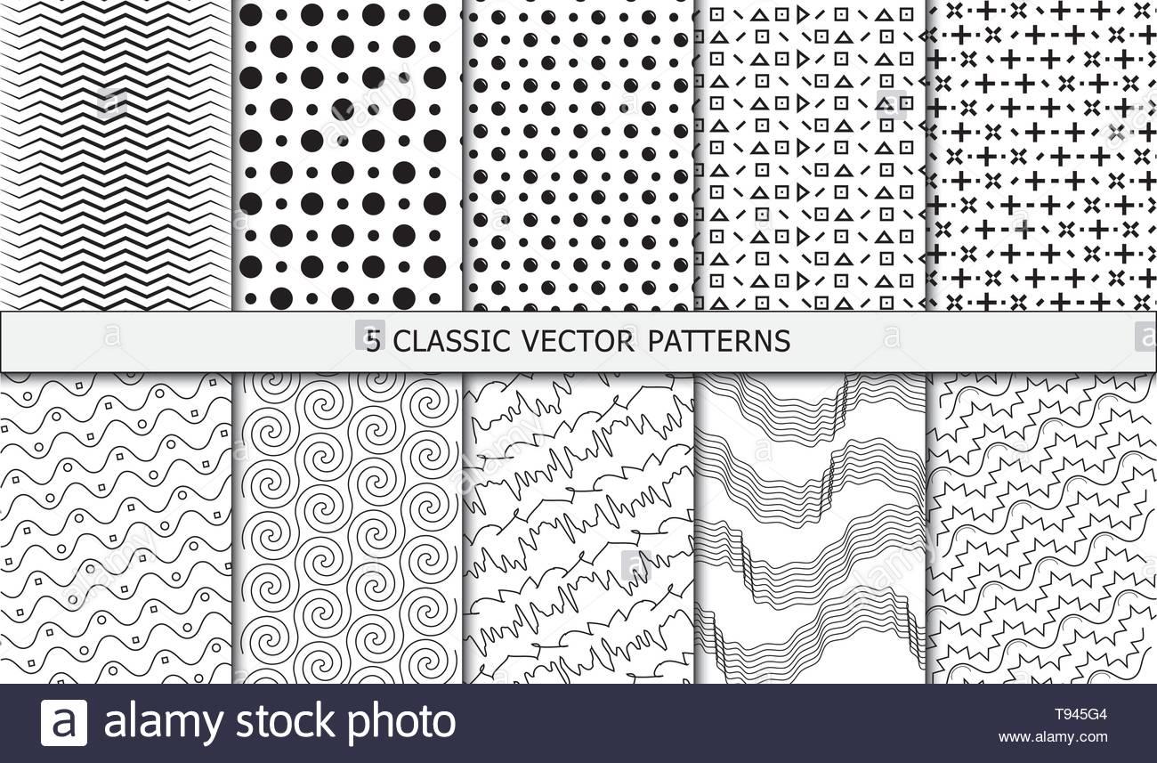 Vettore modelli pulito - a punti, forme e linee. Immagini Stock